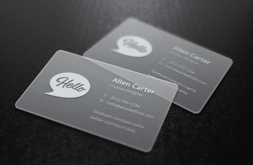 card visit nhựa