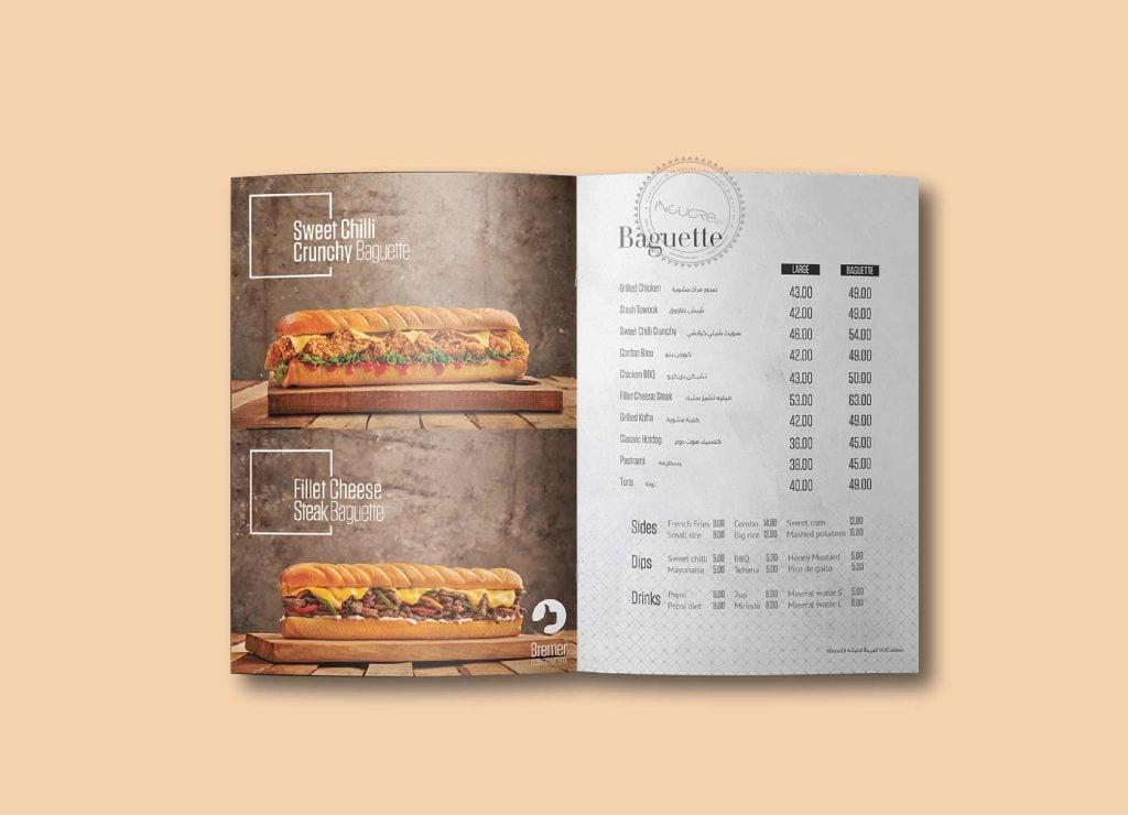 Những lưu ý khi thiết kế menu