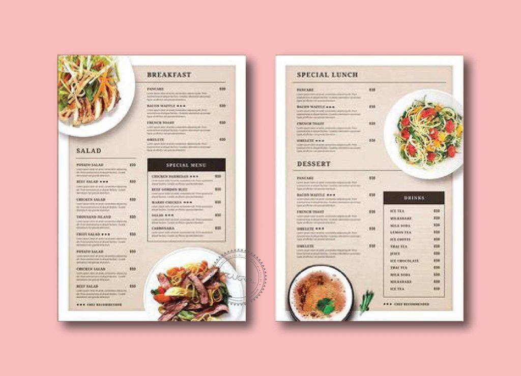 Tầm quan trọng của thiết kế menu nhà hàng