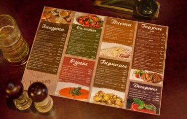 Điểm độc đáo trong thiết kế menu theo kiểu Âu